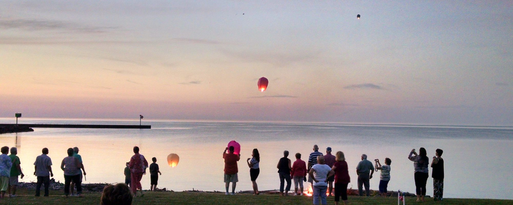 Summer Solstice lantern launch. Photo courtesy of Lynne Menz Designs